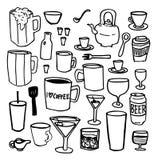 Vetri e tali delle tazze delle tazze Fotografia Stock