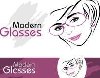 Vetri moderni alla moda. Icone per progettazione illustrazione di stock