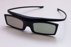 Vetri moderni di film 3D Fotografia Stock