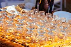 Vetri per il cognac Fotografia Stock