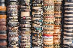 Vetrina dei braccialetti sul mercato Fotografia Stock
