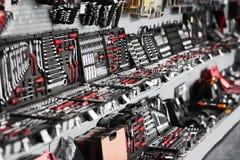 Vetrina del deposito dello strumento (negozio) Immagini Stock Libere da Diritti