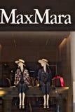 Vetrina del deposito di Max Mara dentro via Condotti fotografia stock libera da diritti