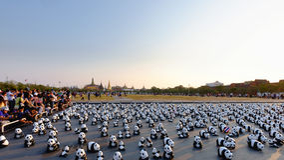 Vetrina di campagna di 1600 della carta panda di Mache a Bangkok Fotografie Stock
