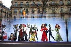 Vetrina 2015 di Printemps dei burattini di dancing Fotografia Stock Libera da Diritti