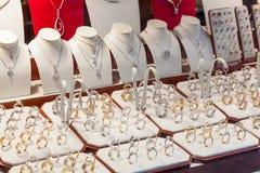 Vetrina di un negozio del diamante a Anversa Fotografie Stock Libere da Diritti