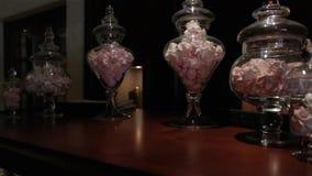 Vetrina dolce della pasticceria archivi video