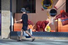 Vetrina elegante a Vancouver del centro, Canada fotografia stock