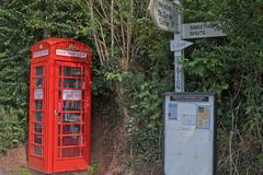 Vetrina letteraria Regno Unito del villaggio Fotografia Stock
