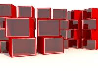 Vetrina rossa vuota Fotografia Stock