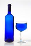 Vetro blu Fotografie Stock