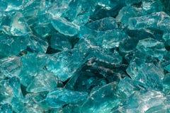 Vetro blu crudo Fotografia Stock
