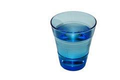 Vetro blu di acqua Fotografia Stock