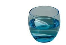 Vetro blu di acqua Fotografie Stock
