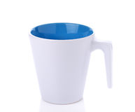 Vetro ceramico bianco su fondo bianco Fotografie Stock