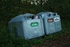 Vetro che ricicla i contenitori in Germania Fotografia Stock Libera da Diritti