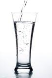 Vetro con acqua Immagini Stock