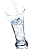 Vetro con acqua Fotografia Stock