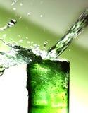 Vetro con i cubi della bevanda e di ghiaccio della menta Fotografia Stock Libera da Diritti