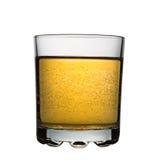 Vetro con il cocktail gassate giallo, isolato Immagini Stock Libere da Diritti