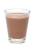 Vetro con il latte al cioccolato, Fotografia Stock Libera da Diritti