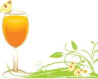 Vetro con il succo di arancia Fotografia Stock