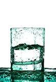 Vetro con le gocce dell'acqua Fotografia Stock