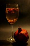Vetro con vino sciupato Fotografie Stock Libere da Diritti