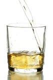 Vetro con whisky Fotografie Stock