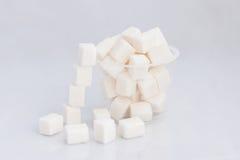 Vetro con zucchero Fotografie Stock Libere da Diritti
