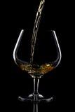 Vetro del bicchiere da brandy Immagini Stock