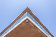 Vetro del calcestruzzo della sezione del portico della costruzione Fotografia Stock