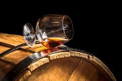 Vetro del cognac fotografia stock libera da diritti