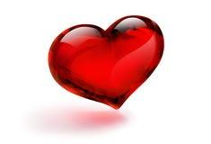 Vetro del cuore Fotografie Stock