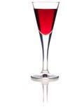 Vetro del liquore della ciliegia Fotografia Stock