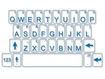 Vetro del mackintosh del pc della tastiera con ombra Fotografie Stock