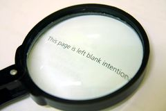 Vetro del Magnifier Immagini Stock Libere da Diritti
