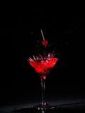 Vetro del Martini con le ciliege Immagini Stock Libere da Diritti