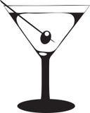 Vetro del Martini con oliva Immagini Stock Libere da Diritti