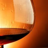 Vetro del primo piano del cognac Immagine Stock