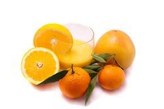 Vetro del succo di arancia Immagine Stock