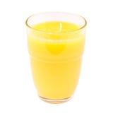 Vetro del succo di arancia Fotografia Stock