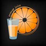 Vetro del succo di arancia illustrazione di stock