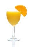 Vetro del succo di arancia con la fetta Fotografia Stock Libera da Diritti