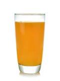 Vetro del succo di arancia su priorità bassa bianca Immagine Stock