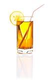 Vetro del succo di limone o della limonata isolato su bianco Fotografia Stock Libera da Diritti