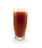 Vetro del succo di pomodoro Fotografia Stock Libera da Diritti