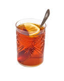 Vetro del tè con un limone Immagini Stock