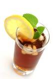 Vetro del tè di ghiaccio Fotografia Stock