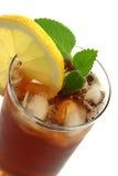 Vetro del tè di ghiaccio Fotografie Stock